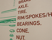 Bike Wheel Parts Poster