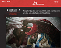 Doctors Without Borders - Landing page
