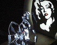 Marylin  Monroe - Shadow Art