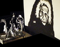 Albert Einstein - Shadow Art