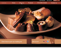 Website Design - Chocolate Story