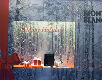 Escaparates para Montblanc de la campaña Christmas 2012