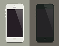 iPhone 5 flat template