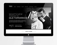TIGI PROFESSIONAL web presence