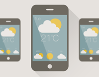 Flat Design Weather App