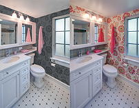 Retouched Images: Bathroom Remodel Project