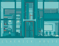 Esherick House illustration