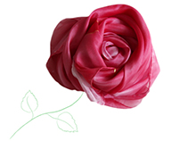 """Roses"" silk scarves"