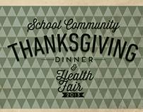 Community Thanksgiving Dinner & Health Fair Poster