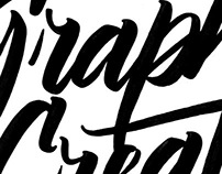 Graphik Creative No.6, brush lettering.