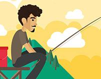 Un día de pesca – Ilustración