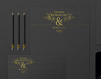 Elegant Gold Stationery Branding