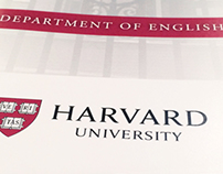 Harvard Department of English brochure