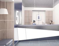 Эскизы для дизайн-проекта офиса банка