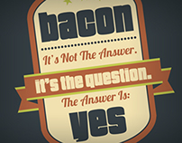 Bacon Shirt & Infographic
