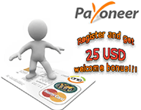 Payoneer Website Advertisement