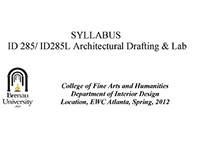 Example Syllabus - Architectural Drafting