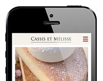 Cassis et Mélisse - Responsive Website