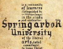 Spring Arbor University Concept Typography Illustration
