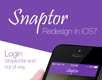 Snaptor- Redesign in iOS7