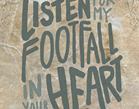 Footfall Typographic Poster