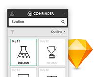 Iconfinder for SketchApp plugin concept