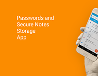 Passwords and Secure Notes Android App Low-Fi