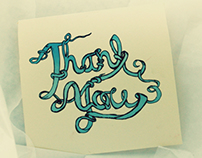 a hand lettered thank you