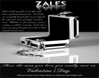 Black & White News Paper Ad for Zales Jewelers