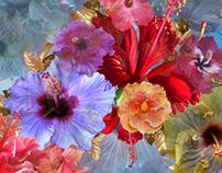 Hibiscus Textile Print