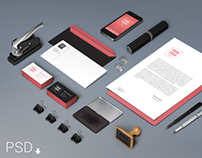 Branding / Identity Mock-Up (Free PSD)