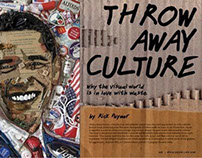 Throw Away Culture- Editorial Layout