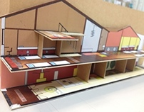 Presentation Boards and model | Backpackers Hostel 2012