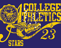 athletic college set vector art
