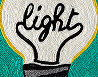 Light: wool painting advertising illustration