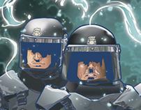AntiPLAY police vector illustration