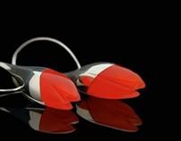 earrings IN RED