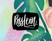 RossLeon ~ Art & Design // Personal Logo Redesign