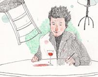 Noi amb copa de vi