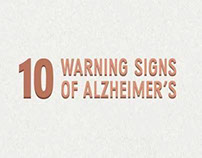 10 Warning Signs of Alzheimer's Infographic
