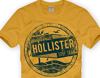 Hollister Tshirt Design