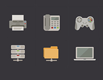 Metro Flat Vector Icon Set