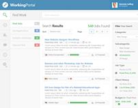 Working Portal - Dashboard