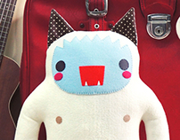 Yeti cat plush 16 inches