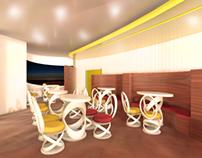 Presentation Board & 3D Render | The Republic Cafe 2013