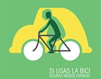 Diseño de Carteles en pro del uso de la bicicleta