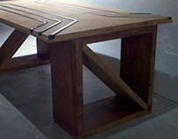 Coffee Table (Birch, Cherry, Steel)