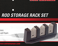Rod Storage Rack Set Packaging, Header Card