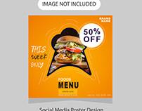Food - Social media poster design