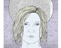 Melancholia movie poster / screen printing